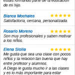 Opiniones clases particulares